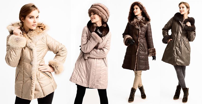 Зимние женские костюмы различных фасонов