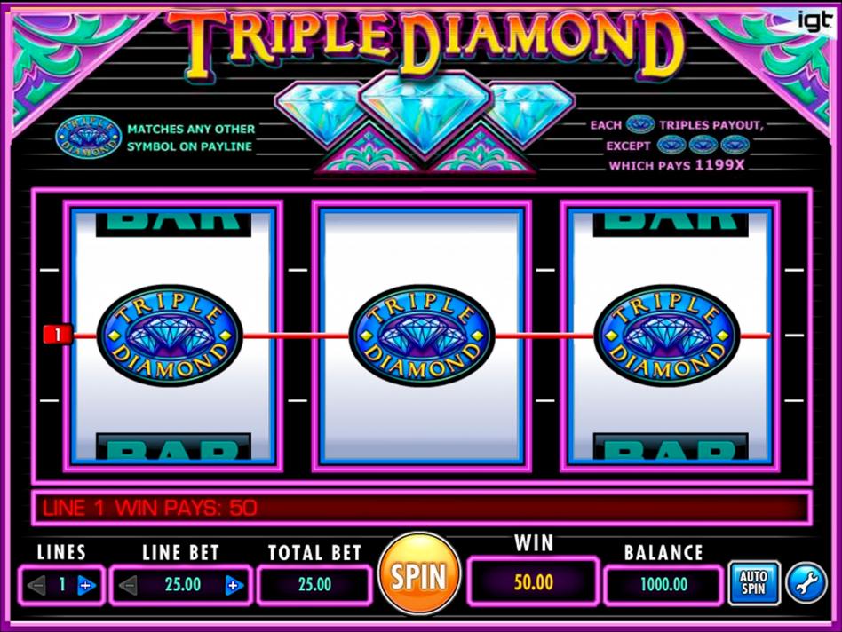Triple Diamond играем онлайн в казино Вулканбет на сайте вулкан-бет.com.ua
